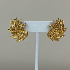 Vintage Goldtone Monet Earrings